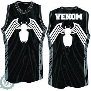 DO NOT USE (Duplicate Listing) Venom Venosey Basketball Jersey Medium