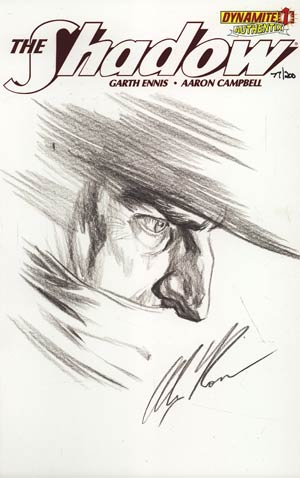 Shadow Vol 5 #1 Incentive Authentix Cover With Hand Drawn Alex Ross Sketch Edition 77 of 200 (one of a kind - sold as is)