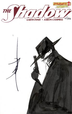 Shadow Vol 5 #1 Incentive Authentix Cover With Hand Drawn Jae Lee Sketch Edition 47 of 218 (one of a kind - sold as is)