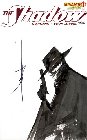 Shadow Vol 5 #1 Incentive Authentix Cover With Hand-Drawn Jae Lee Sketch Edition 48 of 218 (one of a kind - sold as is)