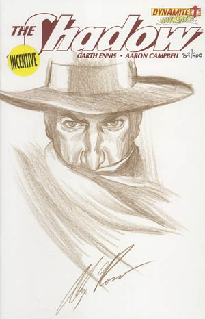 Shadow Vol 5 #1 Incentive Authentix Cover With Hand-Drawn Alex Ross Sketch Edition 82 of 200 (one of a kind - sold as is)