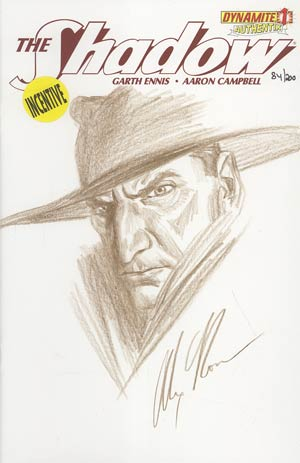 Shadow Vol 5 #1 Incentive Authentix Cover With Hand Drawn Alex Ross Sketch Edition 84 of 200 (one of a kind - sold as is)