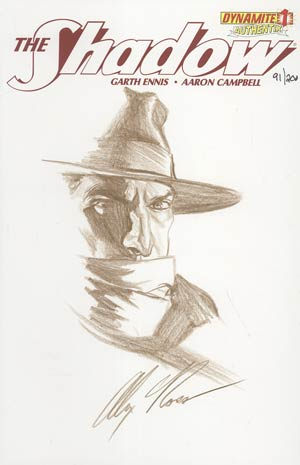 Shadow Vol 5 #1 Incentive Authentix Cover With Hand Drawn Alex Ross Sketch Edition 91 of 200 (one of a kind - sold as is)