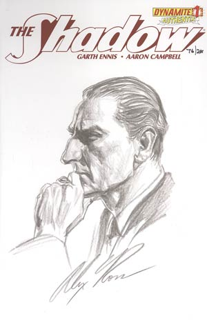 Shadow Vol 5 #1 Incentive Authentix Cover With Hand-Drawn Alex Ross Sketch Edition 76 of 200 (one of a kind - sold as is)