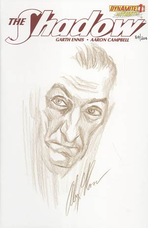 Shadow Vol 5 #1 Incentive Authentix Cover With Hand Drawn Alex Ross Sketch Edition 89 of 200 (one of a kind - sold as is)