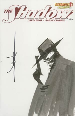 Shadow Vol 5 #1 Incentive Authentix Cover With Hand Drawn Jae Lee Sketch Edition 27 of 218 (one of a kind - sold as is)