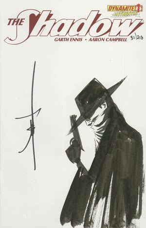 Shadow Vol 5 #1 Incentive Authentix Cover With Hand Drawn Jae Lee Sketch Edition 31 of 218 (one of a kind - sold as is)