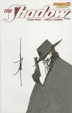 Shadow Vol 5 #1 Incentive Authentix Cover With Hand-Drawn Jae Lee Sketch Edition 30 of 218 (one of a kind - sold as is)