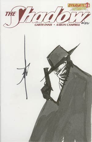 Shadow Vol 5 #1 Incentive Authentix Cover With Hand Drawn Jae Lee Sketch Edition 28 of 218 (one of a kind - sold as is)