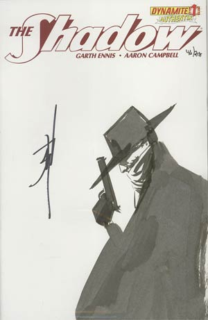 Shadow Vol 5 #1 Incentive Authentix Cover With Hand Drawn Jae Lee Sketch Edition 46 of 218 (one of a kind - sold as is)