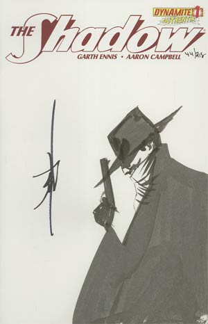 Shadow Vol 5 #1 Incentive Authentix Cover With Hand Drawn Jae Lee Sketch Edition 44 of 218 (one of a kind - sold as is)