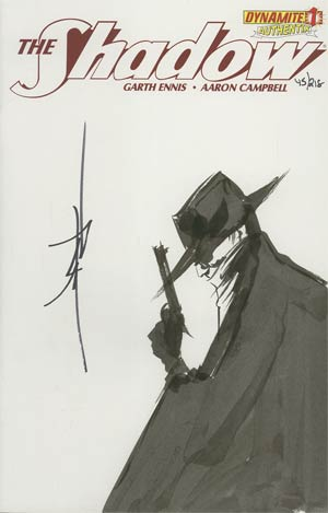 Shadow Vol 5 #1 Incentive Authentix Cover With Hand Drawn Jae Lee Sketch Edition 45 of 218 (one of a kind - sold as is)