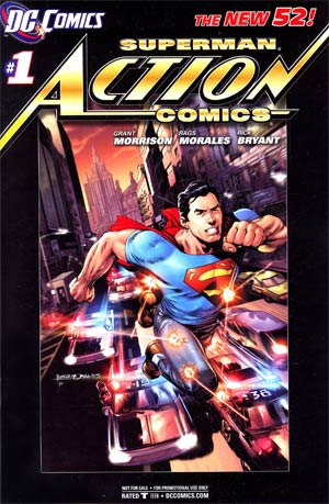 Action Comics Vol 2 #1 Retailer Incentive Black Border Variant Cover