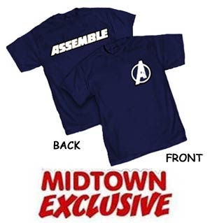 Avengers Assemble Movie Navy Midtown Exclusive Mens T-Shirt Large
