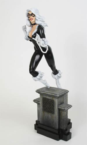 Black Cat Retro Statue By Bowen