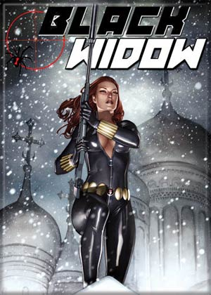 Black Widow Snow Photo Magnet (20586MV)