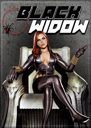 Black Widow On Throne Photo Magnet (20588MV)