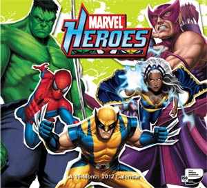 Marvel Heroes 5-Characters 2013 12x11-Inch Wall Calendar
