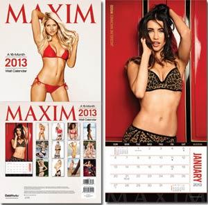 Maxim 2013 12x12-Inch Wall Calendar