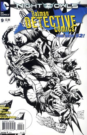 Detective Comics Vol 2 #9 Incentive Tony S Daniel Sketch Cover (Night Of The Owls Tie-In)