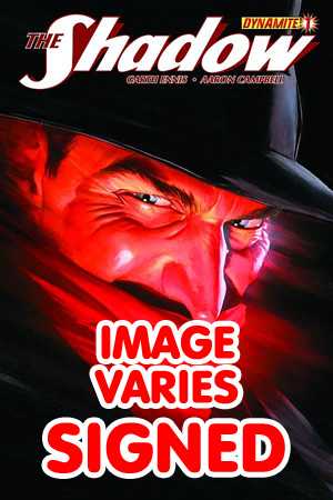 Shadow Vol 5 #1 Regular Cover Signed By Garth Ennis (Filled Randomly With 1 Of 4 Covers - Limit 1 Per Customer)