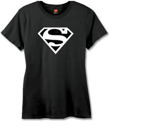 Superman Symbol V Womens T-Shirt Large