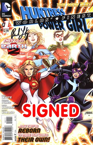 Worlds Finest Vol 3 #1 Regular George Perez Cover Signed By Paul Levitz