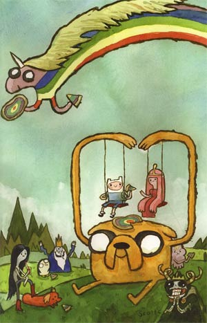 Adventure Time #4 Incentive Scott C Virgin Variant Cover