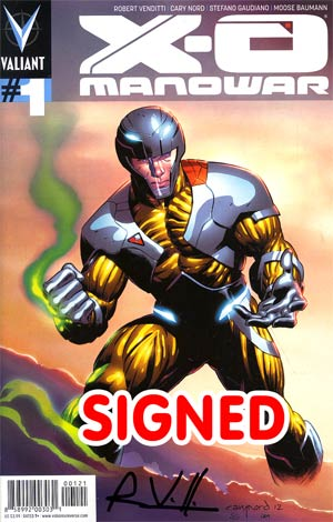 X-O Manowar Vol 3 #1 Variant Cary Nord Pullbox Cover Signed By Rob Venditti
