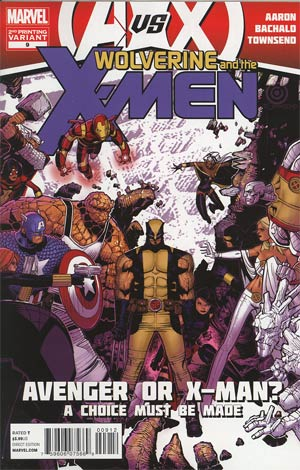 Wolverine And The X-Men #9 2nd Ptg Chris Bachalo Variant Cover (Avengers vs X-Men Tie-In)