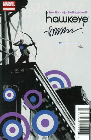 Hawkeye Vol 4 #1 DF Signed By Matt Fraction