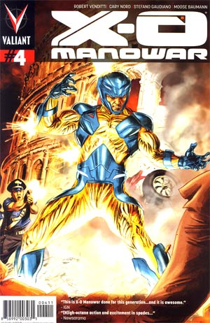 X-O Manowar Vol 3 #4 Regular Doug Braithwaite Cover