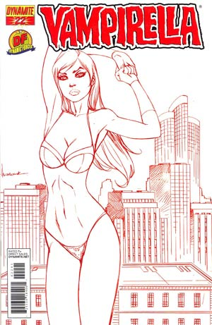 Vampirella Vol 4 #22 DF Exclusive Ale Garza Blood Red Risque Cover