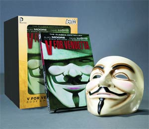 V For Vendetta Book And Mask Set