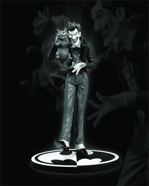Batman Black & White Series Joker Mini Statue By Brian Bolland