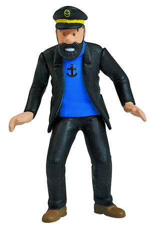 Tintin PVC Figure - Captain Haddock Rally 9 cm