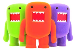 Domo 4-Inch Flocked Vinyl Figure - Orange Soda