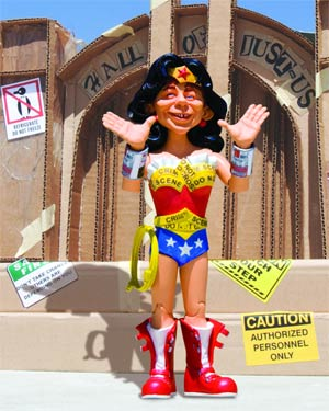 MAD Just-Us League Of Stupid Heroes Series 2 Alfred E Neuman As Wonder Woman Action Figure