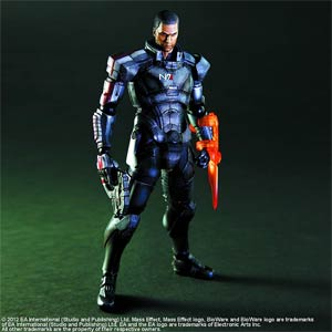 Mass Effect 3 Play Arts Kai Commander Shepard Action Figure