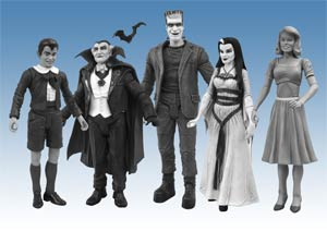 Munsters Family Black & White Figure Box Set
