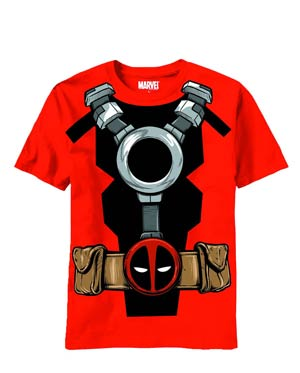 Deadpool Costume Red T-Shirt Large