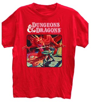 Dungeons & Dragons Origins Red T-Shirt Large
