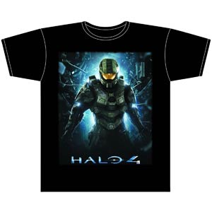 Halo 4 Master Chief Black T-Shirt Large