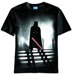 Star Wars Red Saber Black T-Shirt Large