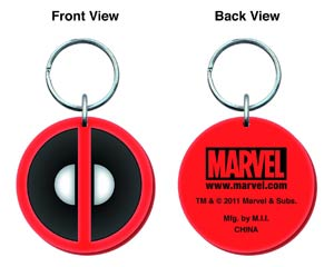 Marvel Soft Touch PVC Keyring - Deadpool Logo