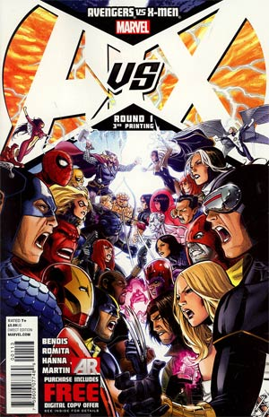 Avengers vs X-Men #1 Cover K 3rd Ptg Jim Cheung Variant Cover