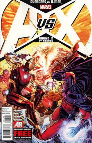 Avengers vs X-Men #2 Cover I 3rd Ptg Jim Cheung Variant Cover