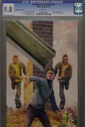 Fanboys vs Zombies #2 Incentive Arthur Suydam Variant Cover CGC 9.8