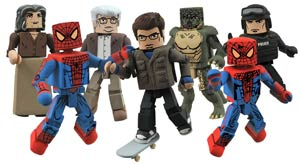 Marvel Minimates Series 46 Amazing Spider-Man Movie Set Of 3 2-Packs (Includes Uncle Ben)