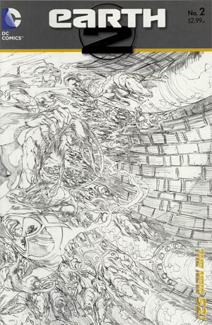 Earth 2 #2 Incentive Ivan Reis Sketch Cover